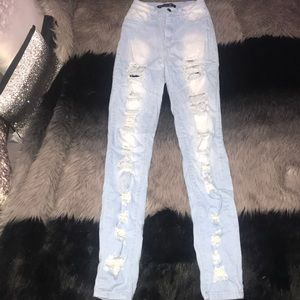 Cut the Bs distressed high waisted jeans 🌟